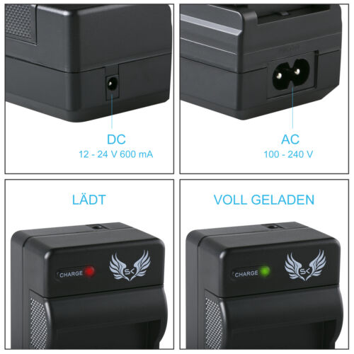 2x SK batería para olympus li-90b//li92b cargador1065140 9026 2 90309