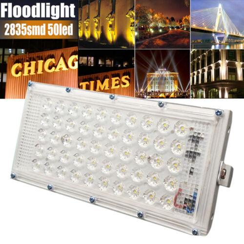 Aluminum 48 LED Flood Light Waterproof Outdoor Garden Landscape Lamp 220V 50W