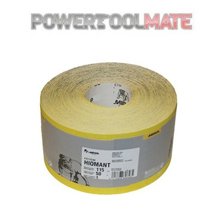 Mirka Hiomant Abrasive Sandpaper, 50m Roll, P60 Grit