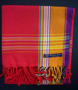 d9b1ed974e04 NEW Kikoy Kikoi Red Gold Unisex African Cotton Sarong Throw Scarf Kenya  Swimwear
