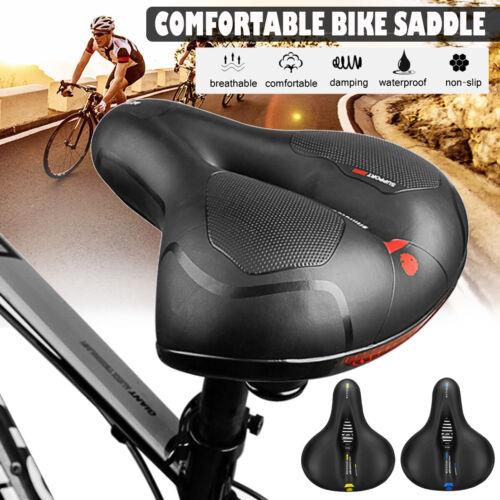 Extra Wide Comfort Saddle Bicycle Seat Pad Soft Padded Mountain Bike Gel Saddle