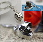 1pcs Silver Motorcycle Bicycle Helmet Key Chain Ring Keychain Keyring Key Fob BO