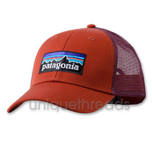 bac12736f79 Patagonia Mens - P-6 Logo LoPro Trucker Hat Cap - Roots Red ...