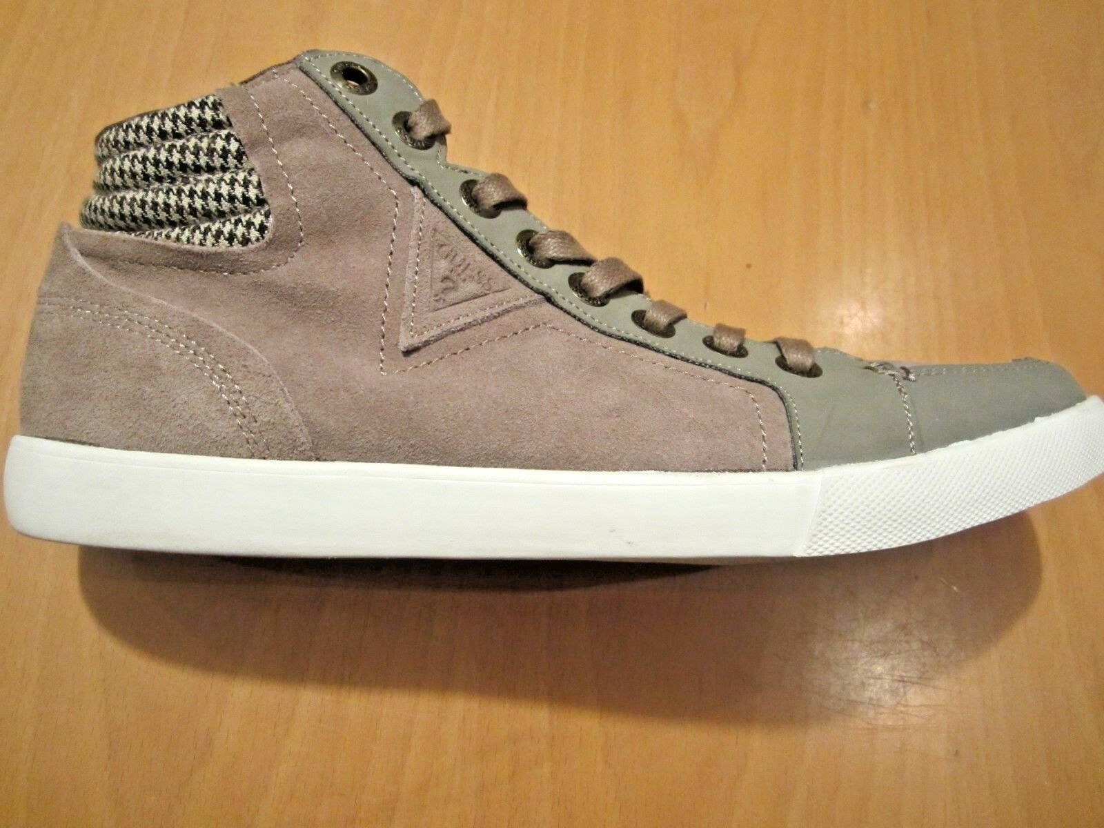 BNWT Nuevo Guess Hi Top Zapatillas botas Zapatillas Zapatos Talla Marrón Gamuza Para Hombre