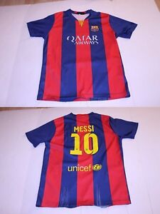 a73685f48 Youth F.C. Barcelona Lionel Messi L Soccer Futbol Jersey (Striped ...