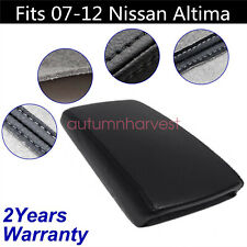 Fits 07 12 Nissan Altima Black Real Leather Center Console Armrest Cover