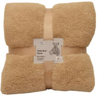 Teddy bear throws soft blankets double king sofa bed cuddly thick warm polyester