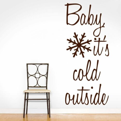 Wall Sticker Baby its Cold Outside Design Decal Vinyl Art Living Room Home Decor