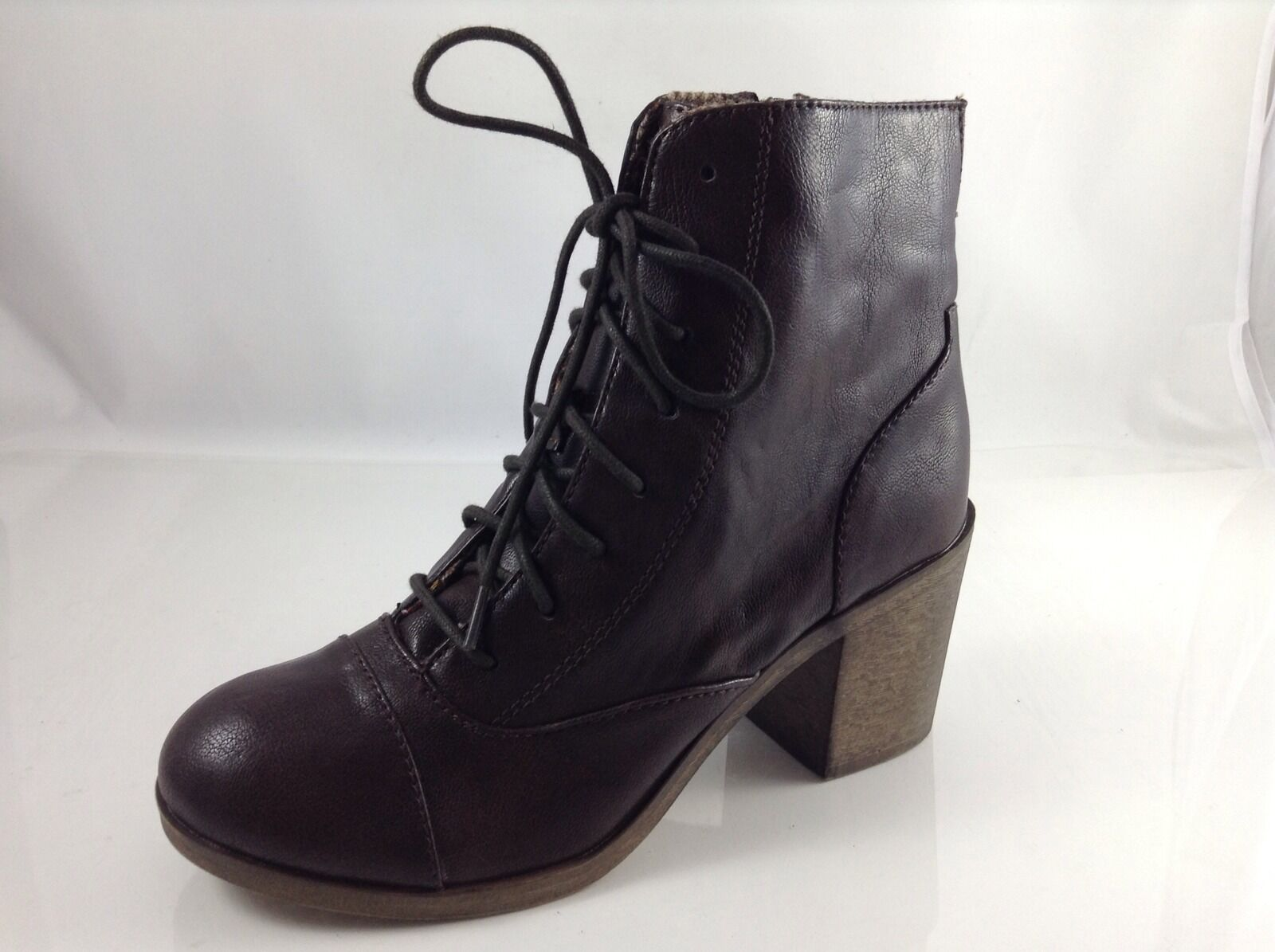 Rock & Candy Womens Dark Brown Ankle Boots 8.5 M