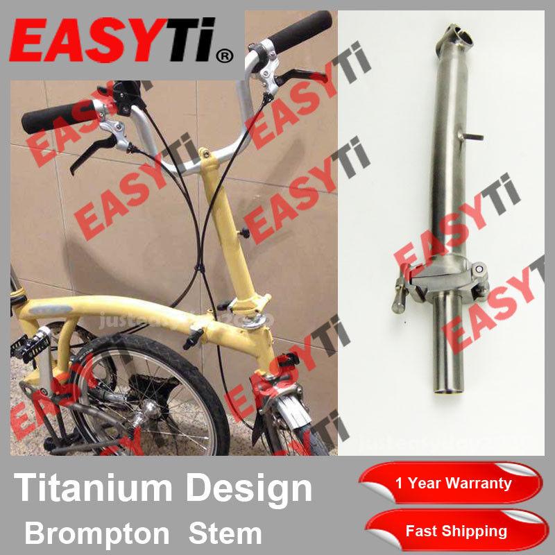 EasyTi TITANIO Ti CNC Quill vástago 25.4 mm Para Brompton vástago de tipo de bicicleta plegable-M