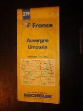 Carte Michelin 1/200000 - 239 - Auvergne / Limousin