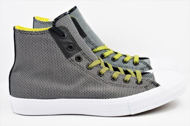Converse CTAS II Hi Chuck Taylor Mens Size 11 Shoes Black White Yellow 155536C