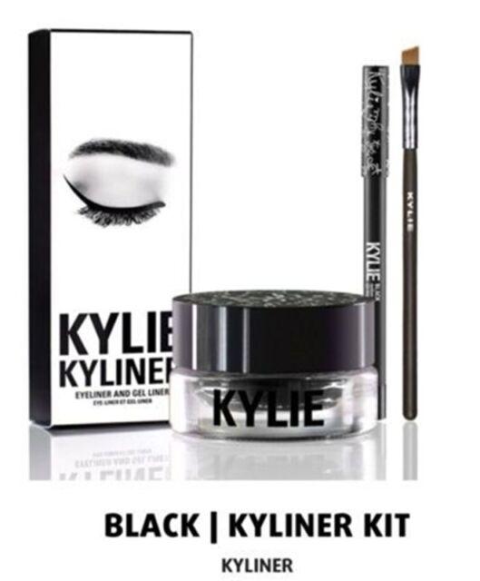 Kylie Jenner Cosmetic BLACK Eyeliner Gel Liner Matte Makeup Kit Brand New In Box