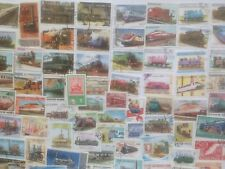 200 Different Trains/Railways/Railroad Stamp Collection