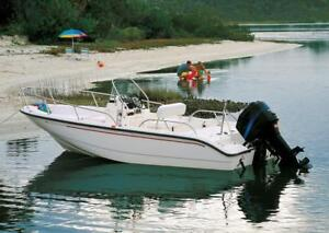 Details about SEMI-CUSTOM BOAT COVER FOR BOSTON WHALER MONTAUK 17 BOW RAILS  OVER MTR O/B 83-95
