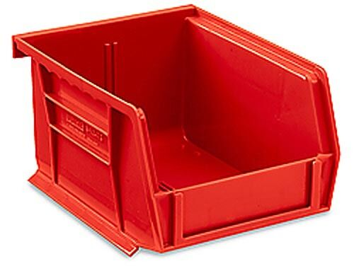 """H x 3/"""" Red Stackable Storage Bin 5-1//2/"""" L W x 4/"""" - Lot of 24"""
