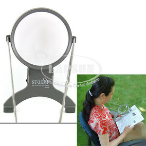 Dual Illuminated Lighted Neck Magnifier Magnifying Glass 2x 4x Magnification Led Ebay