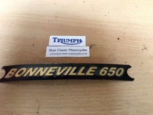triumph bonneville T120 pannel badge