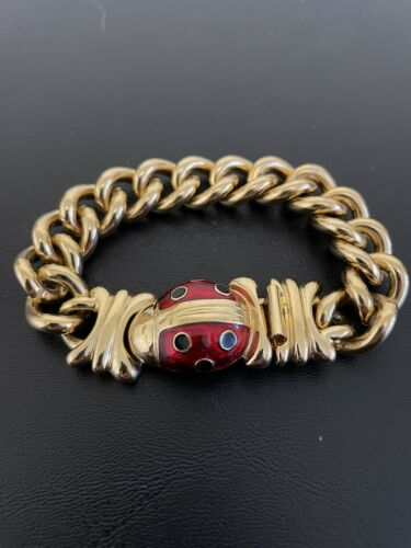 Vintage Joan Rivers Ladybug Bracelet  In Book Jewe