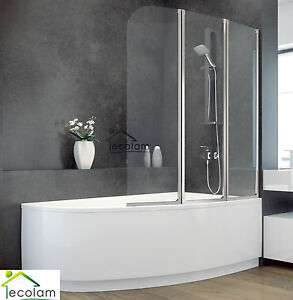 badewanne badewannenabtrennung duschwand glas eckwanne 150 x 100 cm rechts ebay. Black Bedroom Furniture Sets. Home Design Ideas