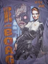 VINTAGE 90s STAR TREK VOYAGER t shirt XL SEVEN OF NINE BORG