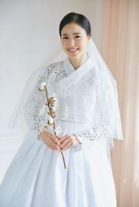 Korea Traditional Costume HANBOK / For Wedding White Dress For ...