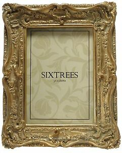 Sixtrees-Chelsea-Shabby-Chic-Ornate-Vintage-Gold-Photo-frame-for-a-7-034-x5-034-Picture