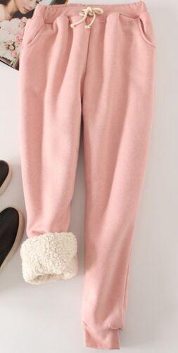 Women/'s Pants Loose Warm Winter Thicken Casual Trousers Sports Fleece Fashion