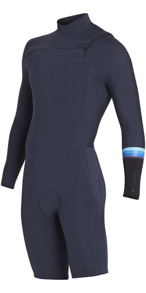 Billabong Revolution 2mm Long Sleeve Shortie Wetsuit 2018 - Slate