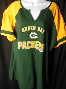 6df502020 Details about Green Bay Packers Women s NFL Team Apparel Plus Size Shirt