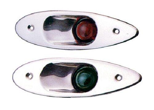 In acciaio INOX luci di posizione BACK bordo e a dritta con staffa scaricati