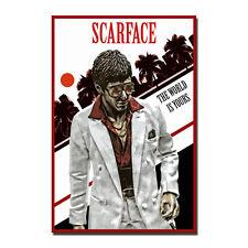 Scarface Classic Movie Film Silk Fabric Poster Canvas Print 13x18 24x32 inch