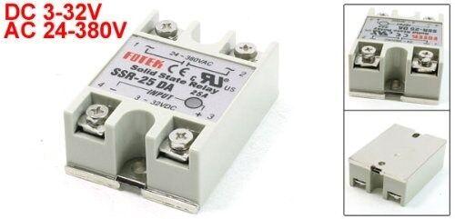 New 1pcs  Solid State Relay SSR-25DA 25A /250V 3-32VDC QC