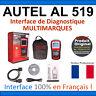 Interface Diagnostique AUTO MultiMarques - AUTEL AutoLink AL519 Valise DIAG OBD2