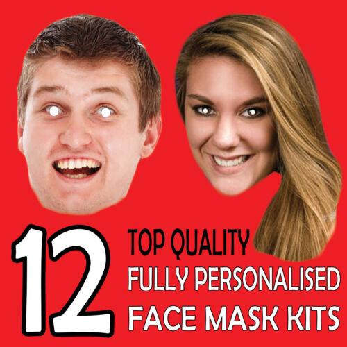 12 personalizzato Custom Maschera Kit di inviare un pic /& diamo tutto il necessario per fai da te!