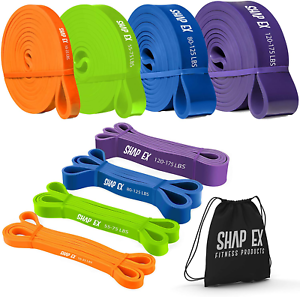 Shapex Pull up Bands-Heavy Duty Set of Pull up Workout Bands, Perfect Resistance