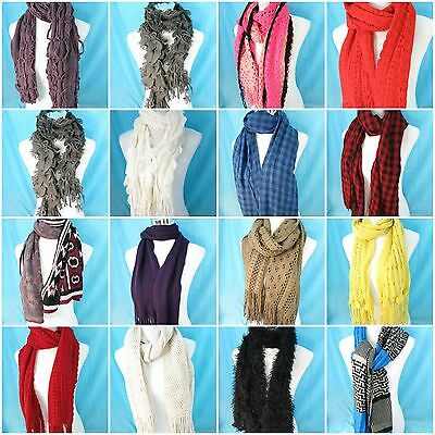 US SELLER-$3.95 / each, wholesale lot of 15 unisex winter soft warm cozy scarves