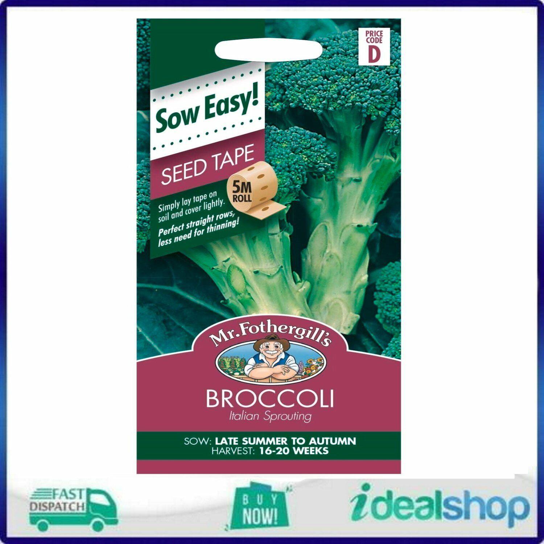 Mr Fothergill's Italian Broccoli Seed Tape