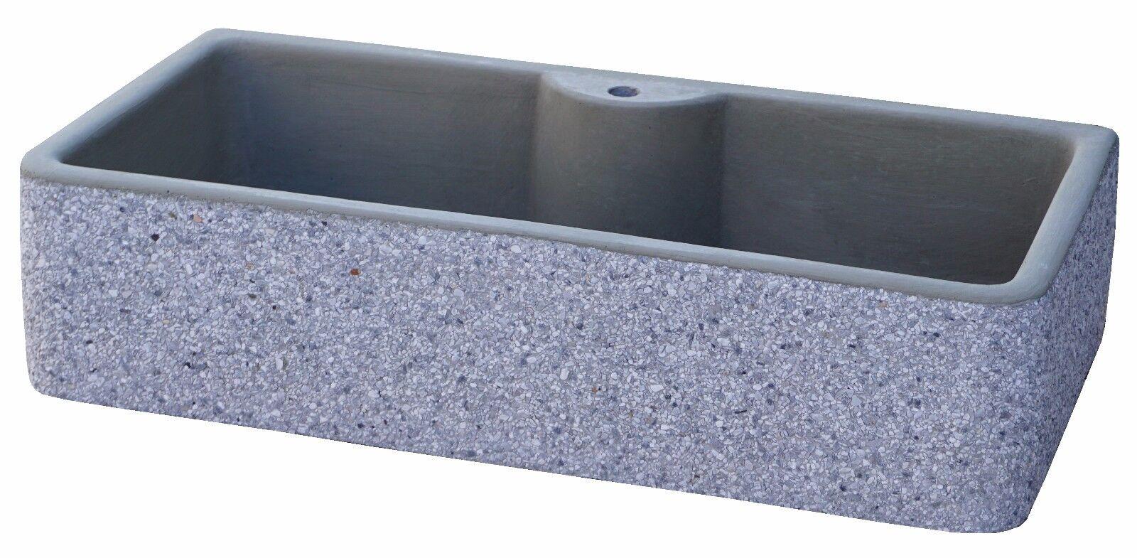 BONFANTE Lavello Acquaio da muro cemento marmo POLLINO Grigio Bardiglio Lavato