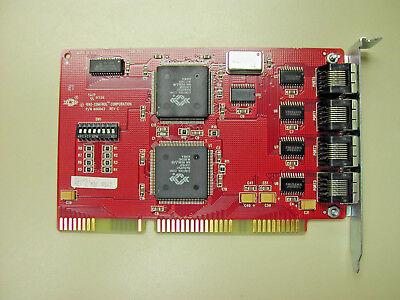 Comtrol Rocketport 4J 4 Port ISA 16Bit 36Mhz Asic Proc RJ45