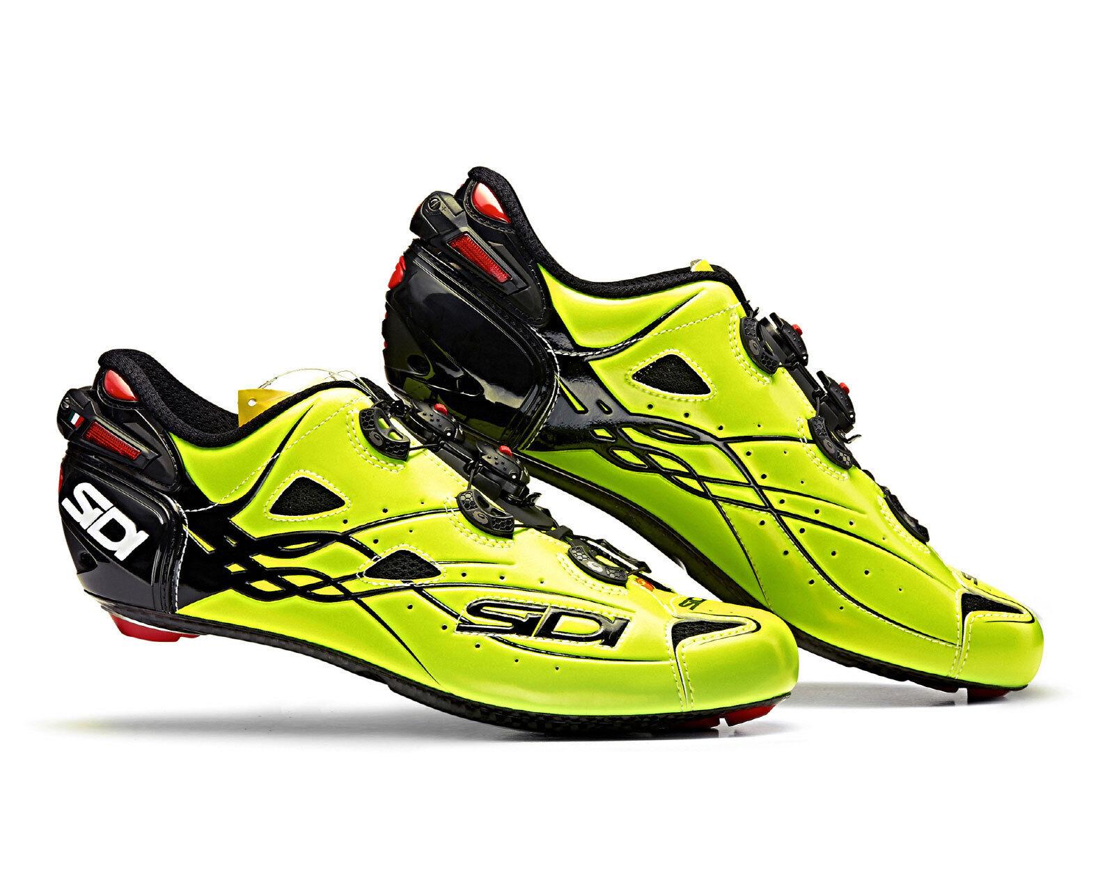 SIDI SHOT Carbon Road Cycling shoes - Bright Yellow