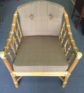 Superbe Image Is Loading McGuire Furniture Arm Chair Rattan Bamboo Vintage