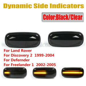 Dynamic LED Side Repeater Indicator Light For Land Rover Discovery 2   D*//