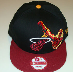 Miami Heat NBA New Era Hat Cap Snapback M L Fantastic Four ... 19eba70cf