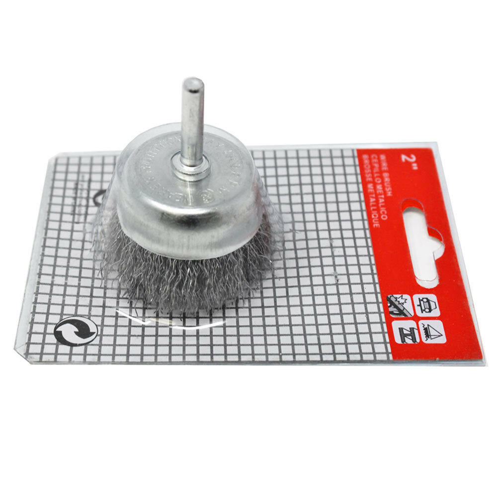 """Fine Crimped with 1//4-Inch Hex Shank 1/"""" Forney 72738 Wire End Brush"""