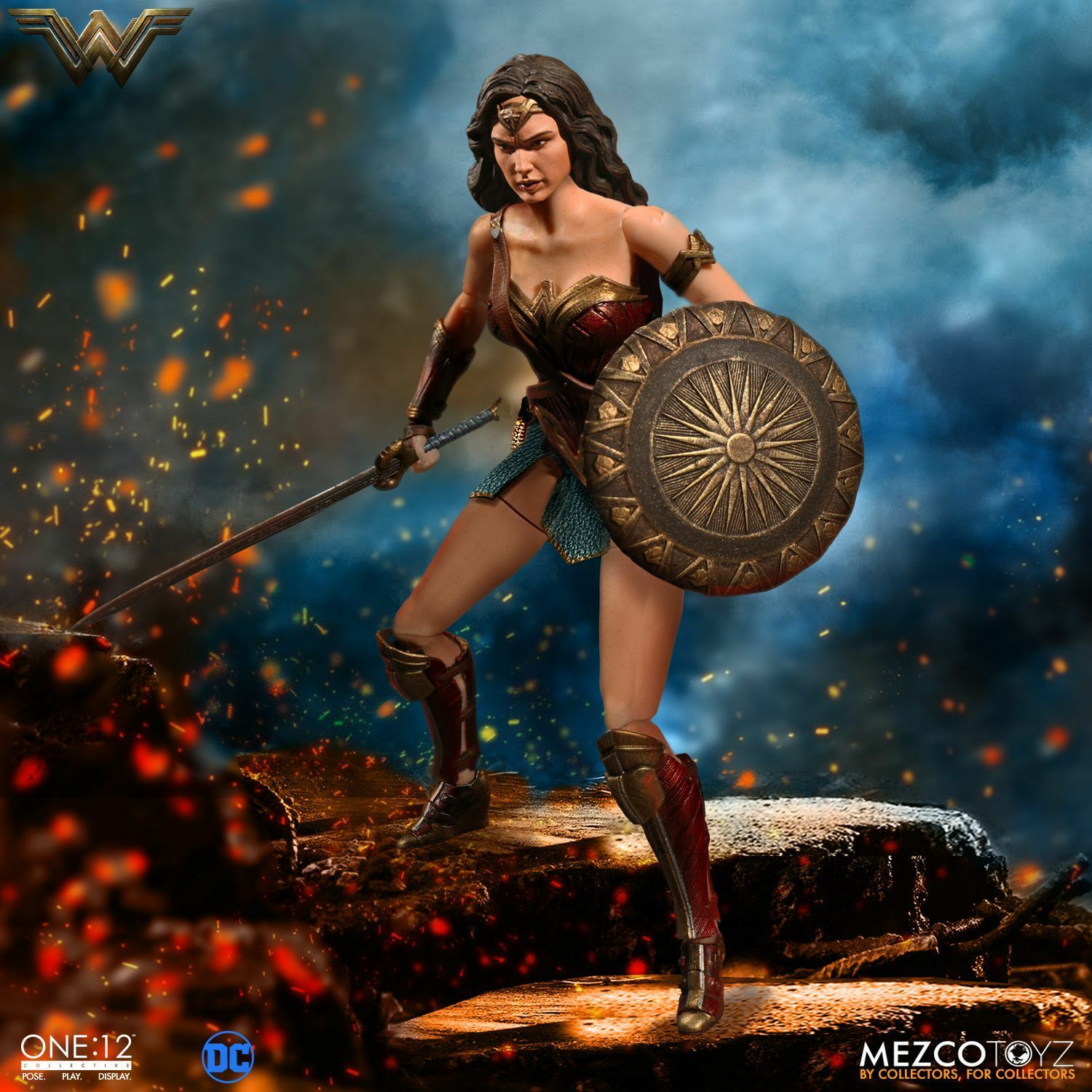 Mezco giocattoloz One 12 Collective DC Comics Wonder donna 112 Scale 6 cifra In He