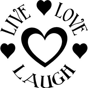 Image Is Loading Live Love Laugh Heart Decal Sticker Life Beach