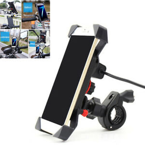 7-8-034-Motorcycle-Handlebar-360-Rotation-Phone-Mount-Holder-With-USB-Charging-Port