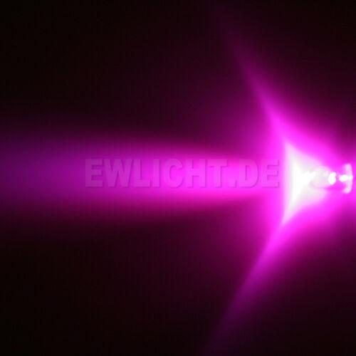 100 LED 5mm Rosa 3000mcd Rosa LED PC Modding Auto MACCHINA MODELLISMO