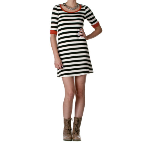 22nd by Trend Notes Women/'s Striped Shirt Dress
